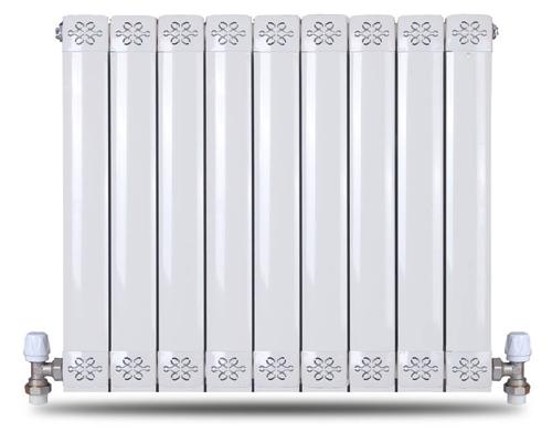 铜铝复合80X80方圆散热器